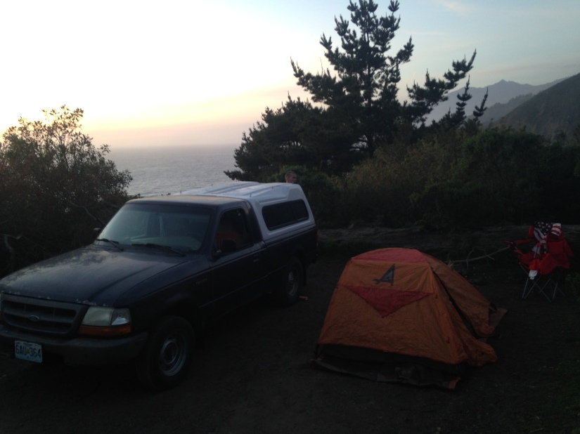 camping on Los Burros road