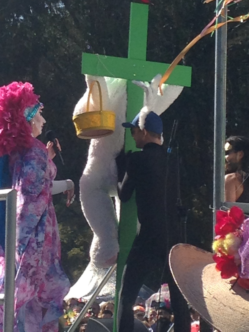 easter bunny on cross