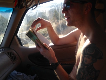 Josh reading drive to big sur