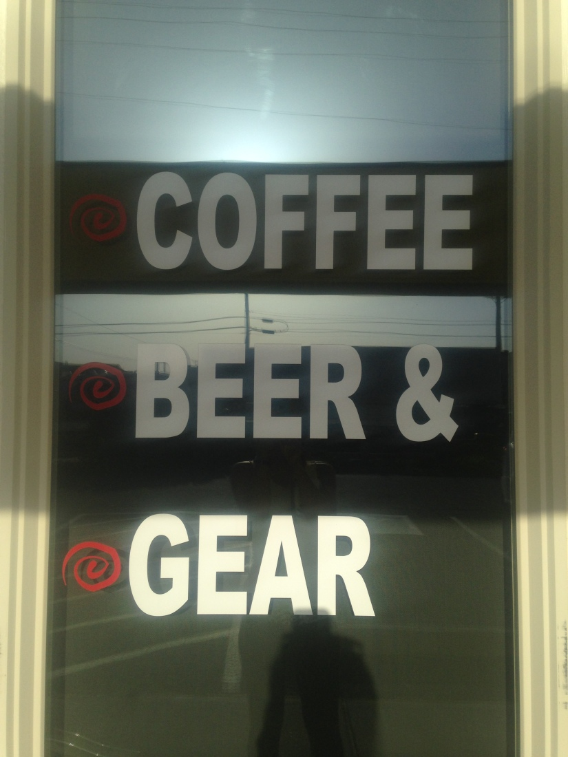 coffee beer and gear